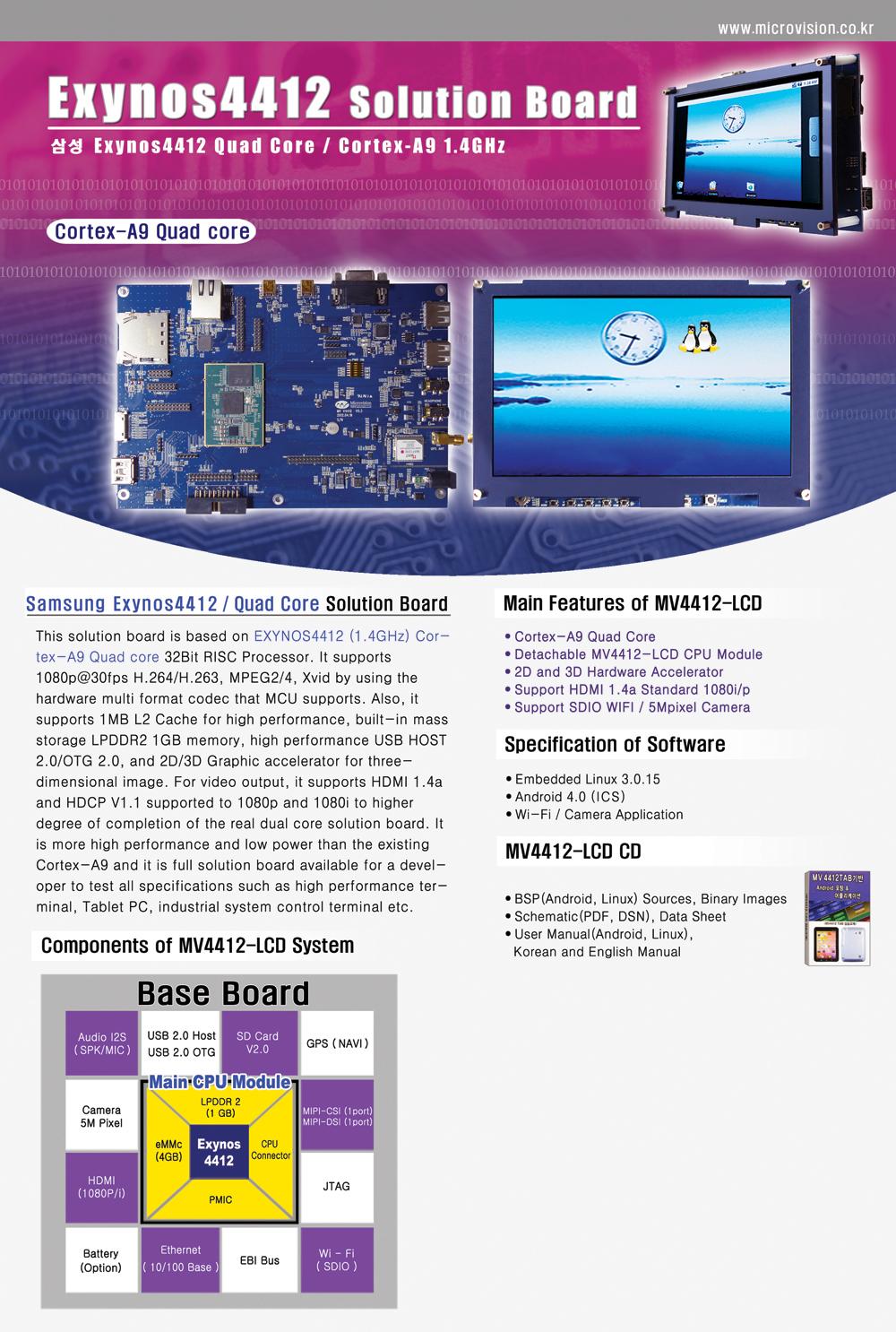 Microvision Exynos 5 Octa Block Diagram